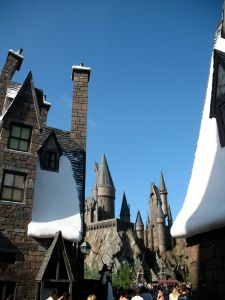Hogsmeade Toward Hogwarts Castle